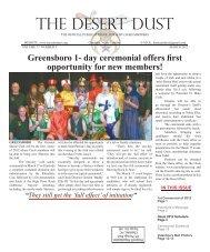 THE DESERT DUST - The Oasis Shriners