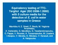 Equivalency testing of TTC Equivalency testing of TTC