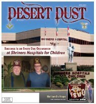 DESERT DUST APRIL 2013 PAGE 1 - The Oasis Shriners