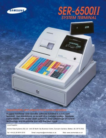 Samsung SER-6500II Cash Register Brochure - Anchor Data Systems