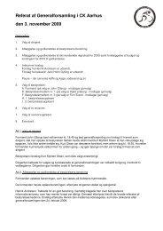 Referat af Generalforsamling i CK Aarhus den 3. november 2009