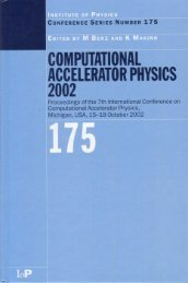Computational Accelerator Physics 2002 - Beam Theory Group ...