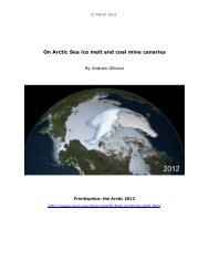 on arctic sea ice and coal mine canaries - Countercurrents.org
