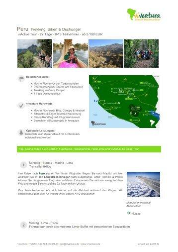 Peru Trekking, Biken & Dschungel - Viventura