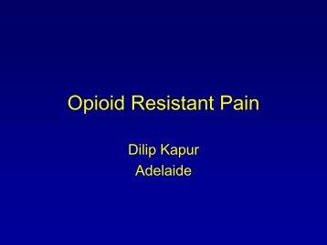Opioid Resistant Pain