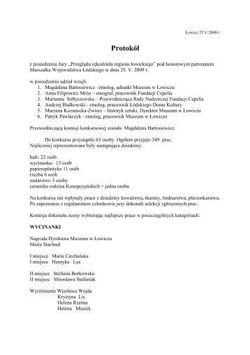 Kopia protokołu - Łowicz
