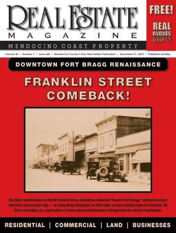 FRANKLIN STREET COMEBACK! - Real Estate Magazine
