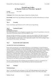 Protokoll zum Treffen - Agenda-wuerselen.de