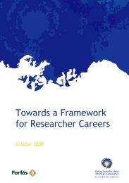 Towards a Framework for Researcher Careers - Advisory Science ...
