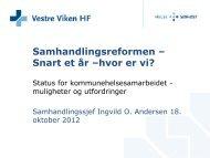 Ingvild O. Andersen - Vestre Viken HF