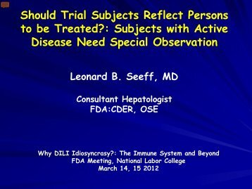 Subjects with Active Disease Need Special Observation - AASLD
