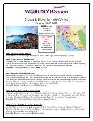 Croatia & Slovenia – with Venice - Worldly Women Journeys