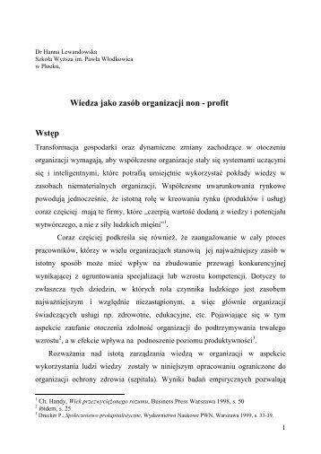 106 Lewandowska - ORGMASZ - Instytut Organizacji i Zarządzania ...