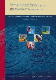 Cyprus International Institute for the Environment and Public Health ...