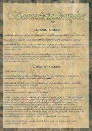 1. kiegészítő - 6. játékos 2. kiegészítő - Amulettek - Alea