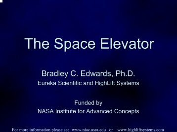 The Space Elevator - NASA's Institute for Advanced Concepts - USRA