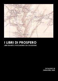 CATALOGO 28 aprile 2009 - I libri di Prospero
