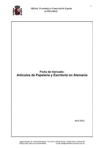 Ficha de mercado: Artículos de Papelería y Escritorio en ... - Icex