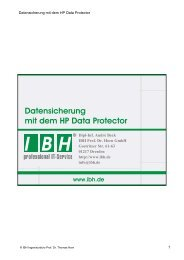 Backup - bei der IBH IT-Service GmbH