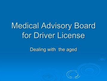 Medical Advisory Board for Driver License
