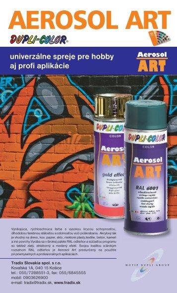 Letak ART.cdr - Tradix Slovakia