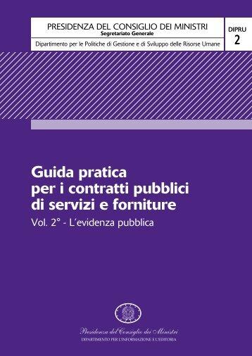 Guida pratica per i contratti pubblici di servizi e forniture
