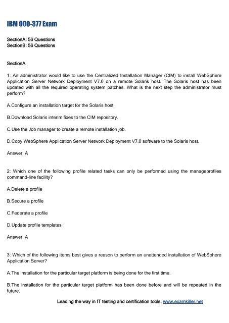 Sample test? Exam 000-587? Ibm filenet p8 v5. 1 deployment.