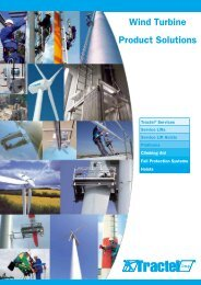 Wind Turbine Product Solutions - Tractel