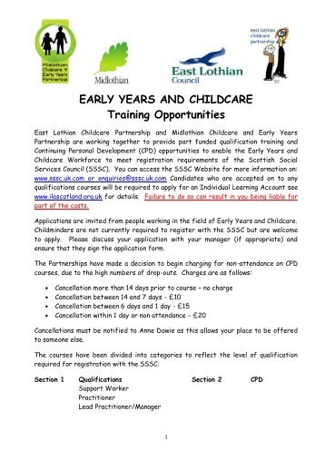 EARLY YEARS AND CHILDCARE Training Opportunities - eduBuzz