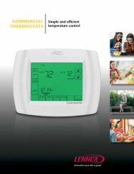 COMMERCIAL THERMOSTATS - Lennox Commercial