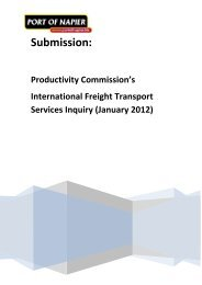 Response to Draft Report - Productivity Commission