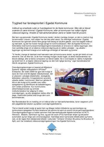 Tryghed har førsteprioritet i Egedal Kommune - Milestone