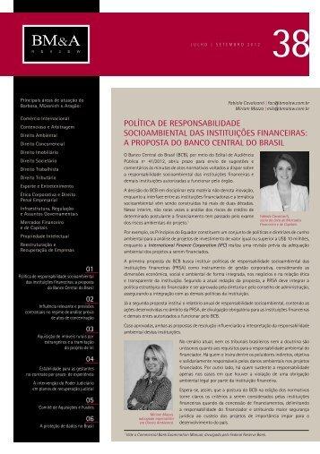 BM&A Review 38 | Julho 2012 - Barbosa, Müssnich & Aragão
