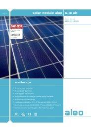 Solar module aleo s_18 url-240-245-250