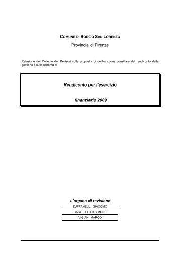 relazione revisori - Comune di Borgo San Lorenzo