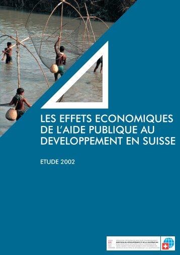 les effets economiques de l'aide publique au developpement en ...