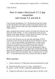 How to make a Buzztouch V1.5 app for iOS 6