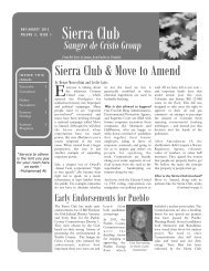 April - August 2012 - Sierra Club Rocky Mountain Chapter