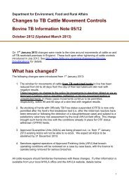 Changes to TB Cattle Movement Controls - Bovine TB Information ...