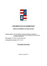 dokumentacija za nadmetanje - Dubrovačko-neretvanska županija