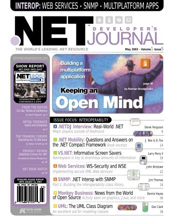 NET - sys-con.com's archive of magazines - SYS-CON Media