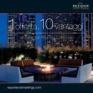 Cliccate qui per scaricare la brochure eXperience Meeting Collection