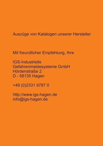Katalogauszug Novar Anzeige- und Bedienteile - IGS-Industrielle ...