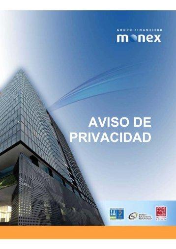 AVISO DE PRIVACIDAD - Monex
