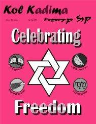 KOL KADIMA SPRING 2003 - United Synagogue Youth
