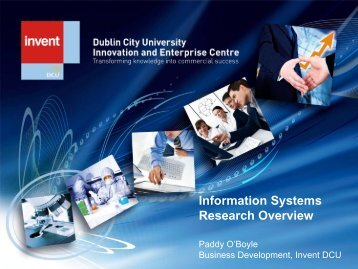 Information Systems Overview Presentation - DCU