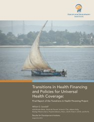 Transitions in Health Financing and Policies for Universal Health ...