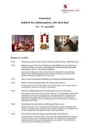 Programm zur Pressereise - Altenburg Tourismus