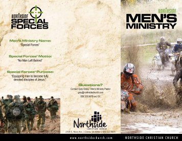 MEN'S MINISTRY Questions? - Northside Christian Church