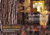 April 9 - 11, 2013 - Dubai Woodshow